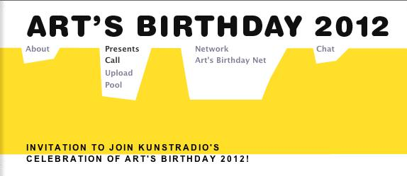 Art's Birthday 2012 – Call for Presents – 50 years of Fluxus