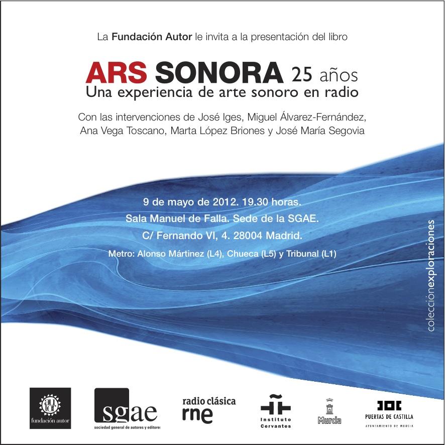 Ars Sonora, 25 años. Presentación del libro