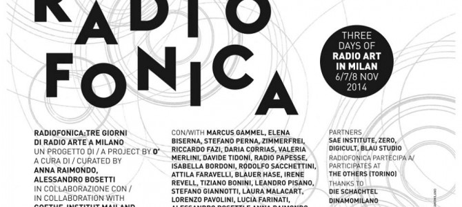 Radiofonica. Three days of Radio Art in Milan
